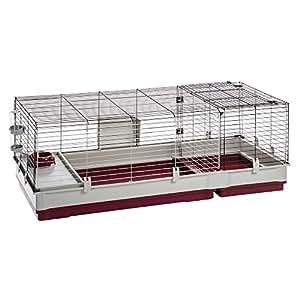 Ferplast Krolik 140 Cage pour Petit Animal Bordeaux 142 x 60 x 50