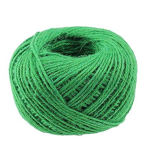 100m/Rolle 2mm natürliche Jute Seil Hanf Bindfäden Kordel starkem Seil Saite für DIY Craft Home Garten Deco grün