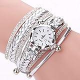 Reloj de Pulsera Mujer, Reloj de Cuarzo, Esfera Redonda, Elegante, Personalizada, Reloj Femenino, tamaño 2195-White-1