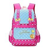 EssVita Sac à dos enfant Impermeable Sacs d'ecole primaire fille cartable Style B Rose + Bleu