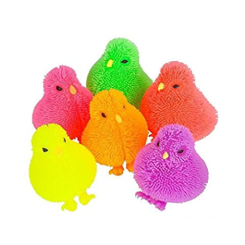 Squishy Chicken Squeezy Puffer ball Sensory Stress Relief Novelty Gift