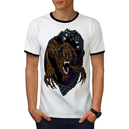 Monster Halloween Horror Schlecht Monster Herren S Ringer T-shirt | - Monster Halloween-burger