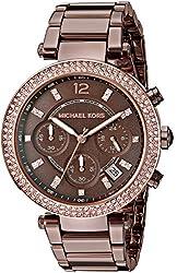 Michael Kors Parker Analog Brown Dial Womens Watch-MK6378