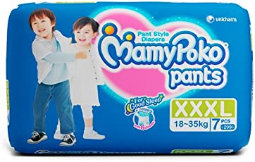 MamyPoko Pant Style XXXL Size Diapers (7 Count)