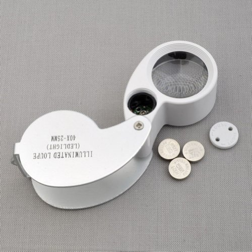 BestDealUK 45x 25mm Glass Magnifying Magnifier Jeweler Eye Jewelry Loupe Loop LED Light by BestDealUK (Loop Case Pack)