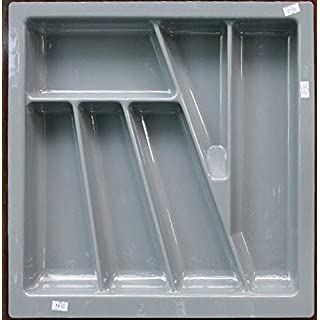 Handles & Ironmongery Cutlery Tray for 500mm Cabinet Matt Anthracite by Stolmet manufacturing (430mm wide x 430mm deep)