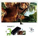 XWEM Mini Projecteur, WiFi Bluetooth 4, Support De Batterie 000Mah 4K, Projecteur Vidéo 1080P,1G+8G