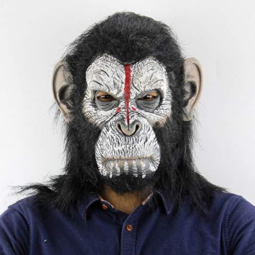 Lixinfushi Neuheit Halloween Kostüm Party Animal Kopf Maske, Schimpanse Realistische AFFE Maske Halloween Cosplay (Schimpanse Maske Kostüm)