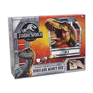 Jurassic World Paint Your Own T-REX Dinosaur Money Box Childrens Kids Piggy Bank Creative Arts & Craft