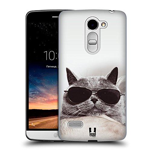 Head Case Designs Graue Britische Katze Mit Sonnenbrille Katzen Ruckseite Hülle für LG Ray / Zone