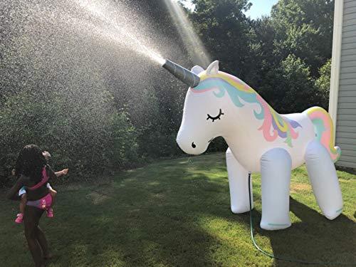 UCLEVER Spruzzi Spruzzini e Fontanelle Giocattolo Unicorno Bambini Gioco Acqua Gioco da Giardino & Piscina all'aperto per Neonati e Bambini Piccoli