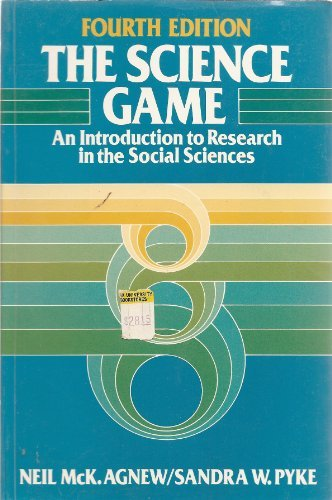 Science Game: Introduction to Research in the Social Sciences