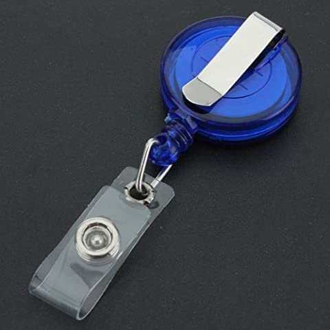 TOOGOO(R)Recoil retractable Yo Yo Porte-cles CHAINETTE Ceinture Clip Holder ID CARD Ski Pass - Bleu