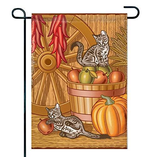 DEFFWB Happy-Easter-dayhalloween,Easter,Flag, Happy Thanksgiving Garden Flag Decorate Your Garden12X18 Inch