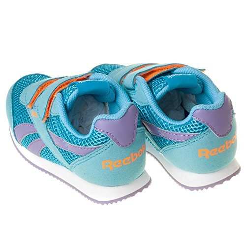 Reebok - Royal Cljog 2rs 2v, Scarpe da corsa Bambina Multicolore (Azul / Morado / Naranja (Blue Splash / Smoky Violet / Electric Peach))