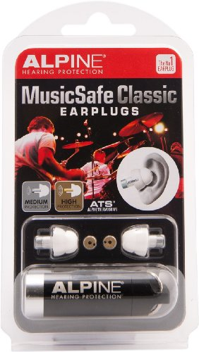 Alpine MusicSafe Classic - Protección auditiva (con filtro), color blanco