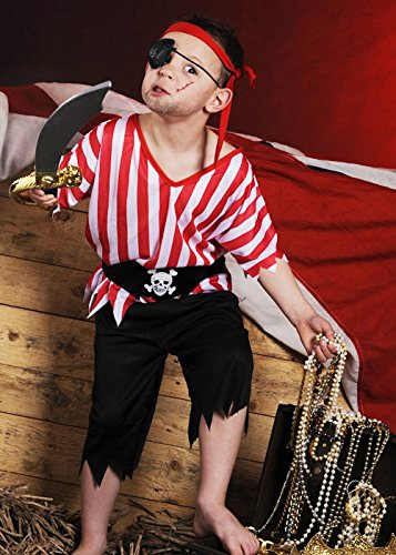 Boy Box Kostüm - Magic Box Int. Childrens Pirate Boy Kostüm Kostüm Large (9-12yrs)