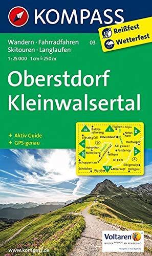 Oberstdorf, Kleinwalsertal: Wanderkarte mit Aktiv Guide, Radwegen, Loipen und alpinen Skitouren. GPS-genau. 1:25000: Wandelkaart 1:25 000 (KOMPASS-Wanderkarten, Band 3) -