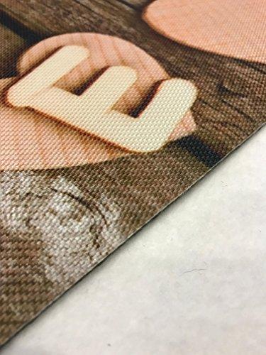 Tappeto cucina a metro /( larghezza 52/) cuori love legno ...