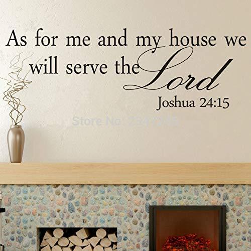 yiyiyaya was Mich und Mein Haus angeht Werden wir dem Herrn dienen. Wandtattoo Christian Bible Quotes Art Schriftzug Aufkleber20 * 60cm