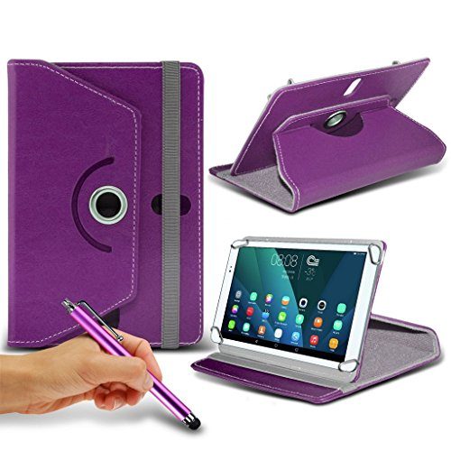 Preisvergleich Produktbild (Purple) Windows Connect 9 [9 inch ] Case [Stand Cover] for Windows Connect 9 [9 inch ] Tablet PC Case Cover Tablet Durable Synthetic PU Leather 360 Roatating Case with 4 springs + TOUCH SCREEN STYLUS PEN by i- Tronixs