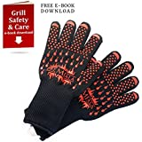 Premiala BBQ Grill Handschuhe 35cm - Hochtemperaturfestes 500C