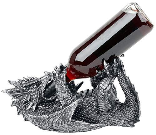 Unbekannt Nemesis Now Guzzlers Dragon Skulpturen schwarz/Silber