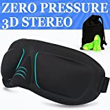 #7: THINK3™ IMPORTED Leight Weight Comfortable Sleep Mask & Ear Plugs includes carry Pouch for Eye Mask & Ear Plugs-for sleeping, travelling for meditation.