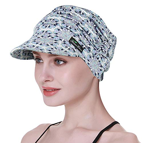 FocusCare Krebs-Kopfbedeckung, Haarausfall-Frauen-Abdeckungs-Kopfhaut-atmungsaktives Bambusgewebe - Milch Seide