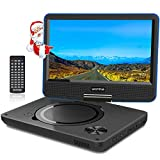 "WONNIE 9.5"" Tragbarer DVD-Player drehbares HD Display 4 Stunden Akku"