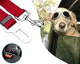 Hunde Sicherheitsgurt - Anschnallgurt für Hunde und Katzen (rot)