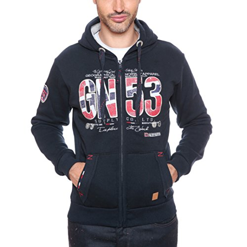 Geographical Norway -  Felpa con cappuccio  - Uomo blu navy