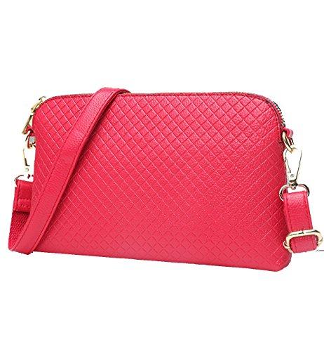 Borsa A Tracolla Yy.f Con Tracolla Interna Pochette Clutch Esterna Moda Pratica Multicolore Rosso
