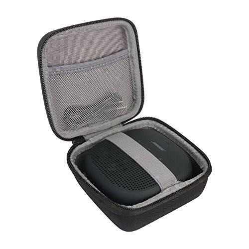 Hart Reise Schutz Hülle Etui Tasche für Bose SoundLink Micro Bluetooth Lautsprecher Schwarz/Dunkelblau / Orange von co2CREA