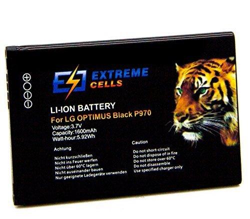 Extremecells® Extremecells® Akku für LG Optimus Black P970 Hub E510 Sol E730 Net P690 L3 L5 ersetzt BL-44JN Accu Battery - Lg-optimus Slider-batterie
