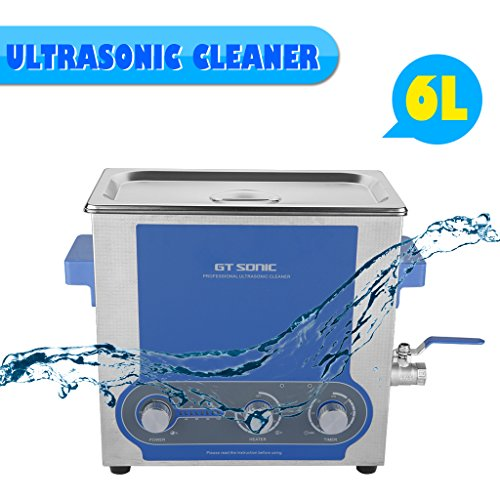 GT Sonic 6L Ultraschallreiniger Ultrasonic Cleaner Edelstahltank Ultraschallreinigungsgerät mit Heizung-Funktion