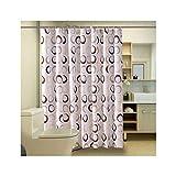Bishilin 3D Duschvorhang Anti-Schimmel Kreise Vintage Duschvorhang 100x180 cm