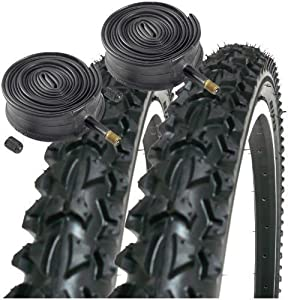 "Coyote Pro TY2604 26"" x 1.95 Mountain Bike Tyres (PAIR) & 2x Schrader Inner Tubes"