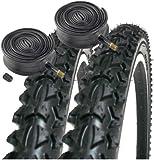 "Coyote Pro TY2604 26"" x 1.95 Mountain Bike Tyres (PAIR) & 2x Schrader"