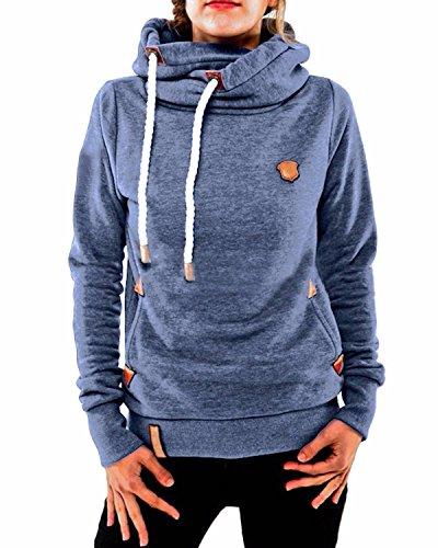 ZANZEA Winter Damen Hoodies Pullover Langarm Jacke Top Sweatshirt Pullover Tops Jumper