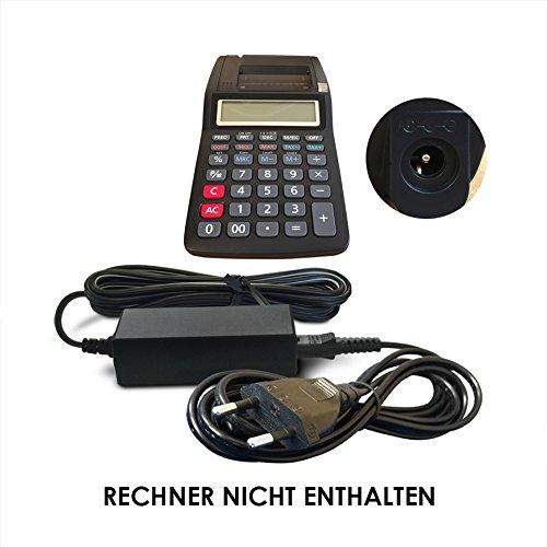 ABC Products® Ersatz Casio 6V / 6 Volt DC Netzteil, Netzadapter, Netzanschluss CSADA600, AD-A60024SE, AD-A60024-EE-OP, AD-A60024SEP, AD-60024, AD-A60024SE-P1-OP1 für die meisten Casio Tischrechner druckend / Rechner / Printing Calculator (Modelle unten angegeben)