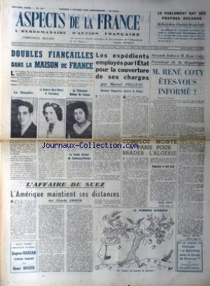 ASPECTS DE LA FRANCE [No 421] du 05/10/1956