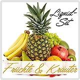 E-Liquid ***Früchte & Kräuter - Minze - Mix *** für E-Zigarette / E-Shisha (3er Pack a 10ml mit 0 mg Nikotin / nikotinfrei)
