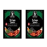ShungRenHsu Kung Fu Mama 3 Cup Sauce, Chinese Cuisine Cooking Sauce, 85g Each for 2-4 Serves x 2 Packs
