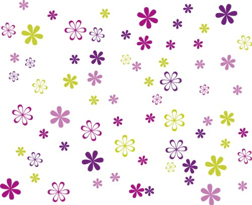Eurographics International GmbH DS-DT3046 Autocollant mural Motif Jazzy blooms 25 x 35 cm