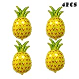 KAIFANG 4PCS 32 Inch Fruit Balloons Giant Pineapple Helium Balloons Pineapple Decor for Pineapple Party Decorations ,Luau Balloons, Pineapple Balloon Party Supplies