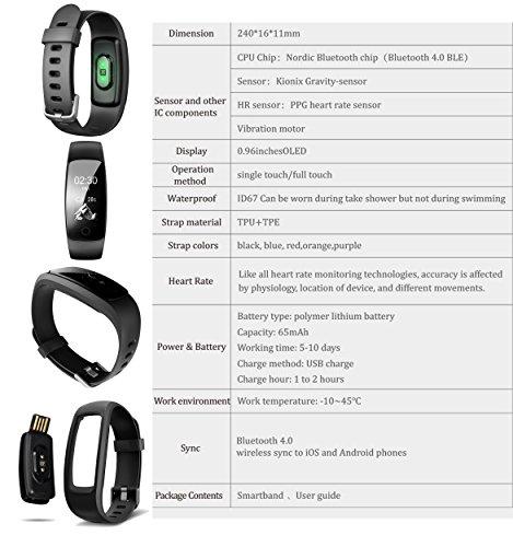 Zoom IMG-2 braccialetto fitness activity tracker hr