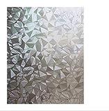 Dekorative Sichtschutz Fensterfolie Sichtschutzfolie, 3D Decor/Sichtschutz/Hitze Control/Anti UV-Reflektierende Fensterfolie, Buntglas Statische Home/Office, 45x 199,9cm Kies, muzizs2 17.7*78.7inch kristall