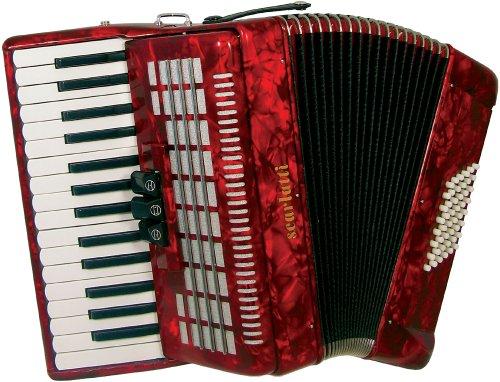 Scarlatti S48 48 Bass-Akkordeon, Rot
