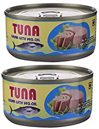 Sea Wonder Tuna Chunks with Veg. Oil - 160 GMS (Pack of 2)